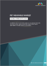 Pet Wearable Market by Component (GPS Chips, RFID Chips, Sensors, Wi-Fi, Cellular, Bluetooth Chips, Processors, Memory, Displays, Batteries), Product (Smart Collars, Smart Cameras, Smart Harnesses), and Region - Global Forecast to 2024