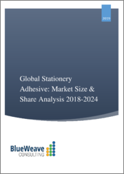 Global Stationery Adhesive Market; Market Overview; Market Segmentation; by Product Type by Distribution Channel, by Region, Trend Analysis, Competitive Market Share and Forecast, 2014-2024