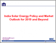 India Solar Energy Policy and Market Outlook for 2019 and Beyond (Pre-order)