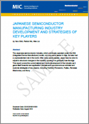Japanese Semiconductor Manufacturing Industry Development and Strategies of Key Players