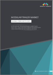 Modular Trailer Market by Type (Multi-Axle, Telescopic/Extendable, and Lowboy Trailer), Axles (2 Axles and >2 Axles), Application (Construction & Infrastructure, Mining, Wind & Energy and Heavy Engineering), and Region - Global Forecast to 2027