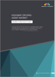 Highway Driving Assist Market by Vehicle Type (PC, BEV, HEV, PHEV, FCEV), Component (Radar, Camera, Ultrasonic Sensor, Software Module), Autonomous Level (Level 2, Level 3 & Above), Function (ACC, LKA, LCA, CAA) and Region - Global Forecast to 2027