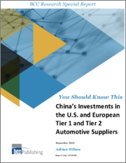 China's investments in the U.S. and European Tier 1 and Tier 2 Automotive Suppliers