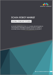 SCARA Robot Market by Payload Capacity (Up to 5.00 kg, 5.01-15.00 kg), Application (Handling and Assembling & Disassembling), Industry (Automotive, Electrical & Electronics, Metals & Machinery, Food & Beverages), and Geography - Global Forecast to 2024