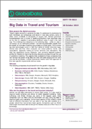 Big Data in Travel and Tourism - Thematic Research