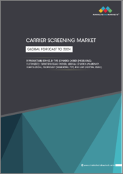 Carrier Screening Market by Product and Service, Type (Expanded Carrier (Predesigned, Customized), Targeted Disease Carrier), Medical Condition (Pulmonary, Hematological), Technology (Sequencing, PCR), End User, Region - Global Forecast to 2024