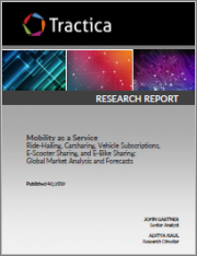 Mobility as a Service - Ride-Hailing, Carsharing, Vehicle Subscriptions, E-Scooter Sharing, and E-Bike Sharing: Global Market Analysis and Forecasts