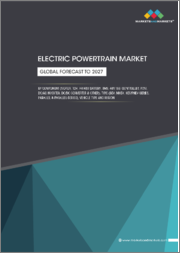 Electric Powertrain Market by Component (Motor, 12V, HV/48V Battery, BMS, 48V ISG, Controller, PDM, DC/AC Inverter, DC/DC Converter & Others), Type (BEV, MHEV, Series, Parallel & Parallel-Series), Vehicle Type, and Region - Global Forecast to 2027