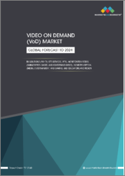 Video on Demand (VoD) Market by Solution (Pay TV, OTT Services, and IPTV), Monetization Model (Subscription-based, and Advertising-based), Industry Vertical (Media, Entertainment, and Gaming and Education), and Region - Global Forecast to 2024