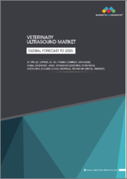 Animal/Veterinary Ultrasound Market by Type (2D, 3D/4D, Doppler), Technology, Product (Portable, Cart-based), Animal (Small Companion, Large), Application (Obstetrics, Orthopedics, Cardiology), End User, and Region - Global Forecast to 2025
