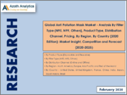 Global Anti Pollution Mask Market - Analysis By Filter Type (N95, N99, Others), Product Type, Distribution Channel, Pricing, By Region, By Country (2020 Edition): Market Insight, Competition and Forecast (2020-2025)