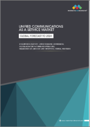Unified Communications as a Service Market by Component (Telephony, Unified Messaging, Conferencing, and Collaboration Platforms and Applications), Organization Size (SMEs and Large Enterprises), Vertical, and Region - Global Forecast to 2024