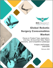 Global Robotic Surgery Consumables Market: Focus on Product Type, Application, End Use, 43 Countries' Data, Patent Scenario, and Competitive Landscape - Analysis and Forecast, 2020-2030