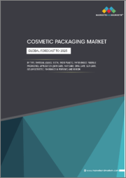 Cosmetic Packaging Market by Type, Material (Glass, Metal, Rigid plastic, Paper-based, Flexible packaging), Application (Skin care, Hair care, Oral care, Sun care, Color cosmetic, Fragrance & perfume), and Region - Global Forecast to 2025