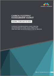 Carbon Footprint Management Market, By Component (Solution and Services), Service (Consulting, and Integration and Deployment), Vertical (Manufacturing, Energy and Utilities, and Transportation and Logistics), and Region - Global Forecast to 2025