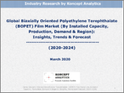 Global Biaxially Oriented Polyethylene Terephthalate (BOPET) Film Market (By Installed Capacity, Production, Demand & Region): Insights, Trends & Forecast (2020-2024)