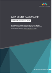 Data Center Rack Market by Component (Solutions and Services), Rack Type (Open Frame and Cabinets), Rack Height, Rack Width, Data Center Size (Small and Mid-sized Data Centers and Large Data Centers), Vertical, and Region - Global Forecast to 2025