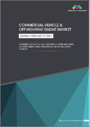 Commercial Vehicle & Off-Highway Radar Market by frequency (24-GHz & 77-81 GHz), component (LRR, S&MRR, Mono Camera, and Stereo Camera), vehicle (CV & Off-highway), Application (ACC, AEB,BSD, FCW & IPA) and Region - Global Forecast to 2027