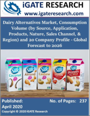 Dairy Alternatives Market, Consumption Volume by Source, Application, Products, Nature, Sales Channel, & Region and 20 Company Profile - Global Forecast to 2026