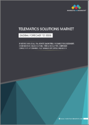 Telematics Solutions Market by Service (ACN, eCall, RSA, Remote Diagnostics, Insurance Risk Assessment, Driver Behavior, Billing), Form & Vehicle Type, Component, Connectivity, Aftermarket, Fleet Management Service, Region - Global Forecast to 2025