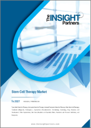 Stem Cell Therapy Market to 2027 - Global Analysis and Forecasts by Type, Treatment, Application, End User, and Geography