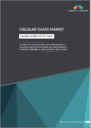 Cellular Glass Market by Product Type (Blocks And Shells, And Foam Glass Gravels), Application (Construction, Industrial, and Consumer Abrasive), and Region (North America, Europe, Asia-Pacific, Rest of World) - Global Forecast to 2025
