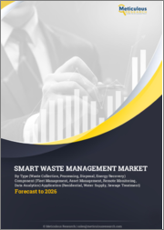 Smart Waste Management Market by Type (Smart Collection, Processing, Disposal), Component (Fleet & Asset Management, Remote Monitoring), Application (Residential, Industrial, Commercial, Construction, Energy), & Region-Global Forecast to 2026