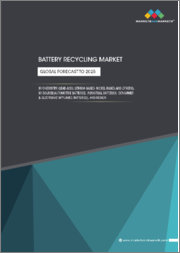 Battery Recycling Market by Chemistry, Source (Automotive Batteries, Industrial Batteries, Consumer & Electronic Appliance Batteries), Region (Asia Pacific, Europe, North America, South America, Middle East & Africa) - Global forecast to 2025