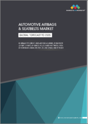 Automotive Airbags & Seatbelts Market By Airbag Type (Front, Knee, Side & Curtain), Seatbelts (2-point, 3-point), Vehicle (PC, LCV, Buses, Trucks), Electric Vehicle, Component (Airbag Inflator, ACU, Airbag), Region - Global Forecast to 2025