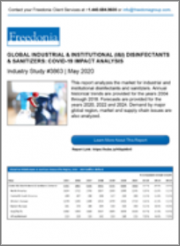Global Industrial & Institutional Disinfectants & Sanitizers: COVID-19 Impact Analysis