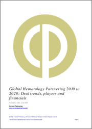 Global Hematology Partnering 2010-2020: Deal trends, players and financials