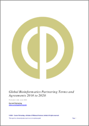 Global Bioinformatics Partnering Terms and Agreements 2014 to 2020