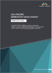 Asia Pacific Generator Sales Market by Fuel Type (Diesel, Gas), Power Rating (<100kVA, 100-350kVA, 350-1000-2500kVA, 2500-5000kVA, >5000kVA), Application (Standby, Continuous, Peak Shaving), End-User, Country - Forecast to 2025