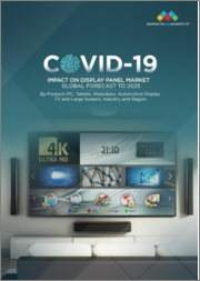 COVID-19 Impact on Display Panel Market by Product (PC Monitors, Tablets, Smartphones, Wearables, Automotive Displays, TVs, and Large Screen), Industry, and Region - Global Forecast to 2025