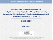 Global Video Conferencing Market (By Component, Type, End-User, Deployment, Enterprise Size & Region): Insights & Forecast with Potential Impact of COVID-19 (2020-2024)