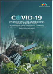 COVID-19 Impact on Digital Agriculture Market by Smart Farming Systems (Livestock Monitoring, Yield Monitoring, Crop Scouting, Field Mapping, Real-Time Safety Testing, and Climate Smart), and Region - Global Forecast to 2021