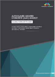 Autoclaved Aerated Concrete (AAC) Market by Element (Blocks, Beams & Lintels, Cladding Panels, Wall Panels, Roof Panels, Floor Elements), End-use Industry (Residential, Non-Residential), and Region - Global Forecast to 2025