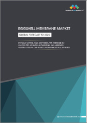 Eggshell Membrane Market by Product (Capsule, Tablet, and Powder), Type (Hydrolyzed and Unhydrolyzed), Application (Nutraceuticals, Food & Beverages, Cosmetics & Personal Care Products, and Pharmaceuticals) and Region - Global Forecast to 2025