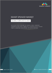Smart Speaker Market with COVID-19 Impact Analysis by IVA (Alexa, Google Assistant, Siri, DuerOS, Ali Genie), Component (Hardware (Speaker Driver, Connectivity IC, Processor, & Others) & Software), Application, & Region-Global Forecast to 2025