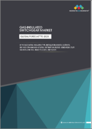 Gas-insulated Switchgear Market by Voltage Rating, Insulation Type, Installation (Indoor, Outdoor), End User (Transmission Utility, Distribution Utility, Generation Utility, Railways & Metros, Industry & OEM), and Region - Global Forecast to 2025