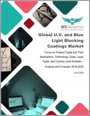 Global U.V. and Blue Light Blocking Coatings Market: Focus on Product Types and Their Applications, Technology Types, Layer Types, and Country Level Analysis - Analysis and Forecast, 2019-2025