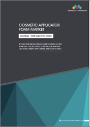 Cosmetic Applicator Foam Market by Shape (Egg-shaped Sponges, Cosmetic Wedges, Others), Material Type (PU, Others), Region (North America, Asia Pacific, Europe, South America, Middle East & Africa) - Global Forecast to 2025