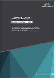 Lactase Market by Source (Yeast, Fungi, Bacteria), Form (Liquid, Dry), Application (Food & Beverage, Pharmaceutical Products & Dietary Supplements), Region (North America, Europe, APAC, South America, RoW) - Global Forecast to 2025