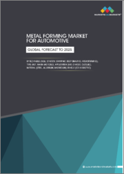 Metal Forming Market for Automotive by Technique (Roll, Stretch, Stamping, Deep Drawing, Hydroforming), Type (Hot, warm and Cold), Application (BIW, Chassis, Closure), Material (Steel, Aluminum, Magnesium), Vehicle-Global Forecast to 2025