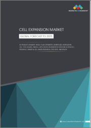 Cell Expansion Market by Product (Reagent, Media, Flow Cytometer, Centrifuge, Bioreactor), Cell Type (Human, Animal), Application (Regenerative Medicine & Stem Cell Research, Cancer & Cell-based Research), End-User, & Region-Global Forecast to 2025