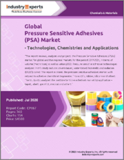 Global Pressure Sensitive Adhesives (PSA) Market - Technologies, Chemistries and Applications