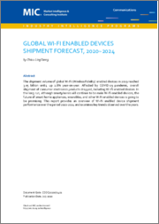Global Wi-Fi Enabled Devices Shipment Forecast, 2020~2024