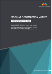 Modular Construction Market by Type (Permanent, Relocatable), Material (Steel, Concrete, Wood), Modules, End-Use (Residential, Retail & Commercial, Education, Healthcare, Office, Hospitality), and Region - Global Forecast to 2025