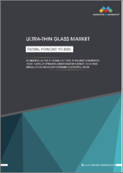 Ultra-thin Glass Market by Thickness, Manufacturing Process (Float, Fusion, Down-Draw), Application (Semiconductor Substrate, Touch Panel Display, Fingerprint Sensor), End-use Industry, and Region - Global Forecast to 2025
