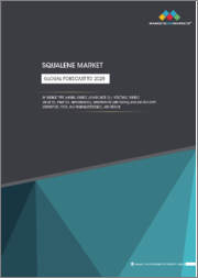 Squalene Market by Source Type (Animal Source (Shark Liver Oil), Vegetable Source (Olive Oil, Palm Oil, Amaranth Oil), Biosynthetic (GM Yeast]), End-use Industry (Cosmetics, Food, and Pharmaceuticals), and Region - Global Forecast to 2025